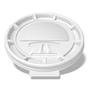 white tear-back lid for a custom printed paper cup