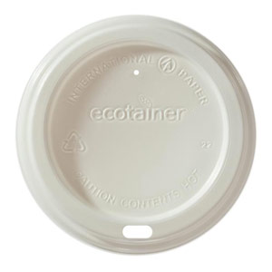 Eco dome lid for custom printed compostable paper cup